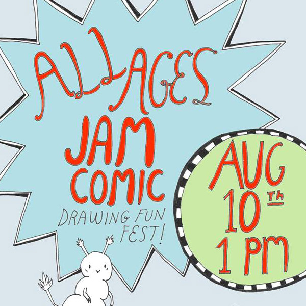 All Ages Jam Comic Drawing Fun Fest