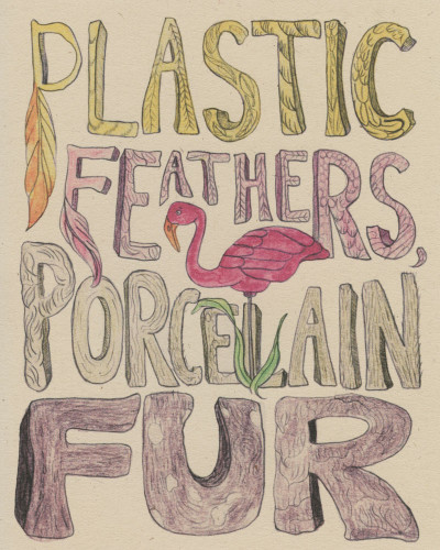 Plastic Feathers Porcelain Fur by Marian Runk