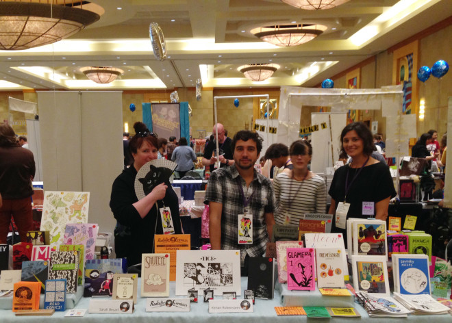 Sarah Becan, Kenan Rubenstein, Cate Hall & Cara Bean at SPX 2015