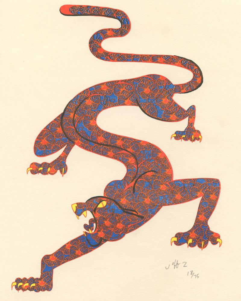 Tiger Print by Jeff Zwirek