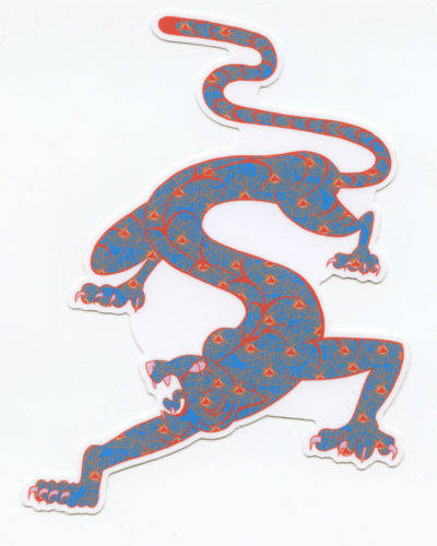 Panther Sticker by Jeff Zwirek