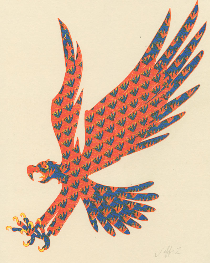 Eagle Print by Jeff Zwirek