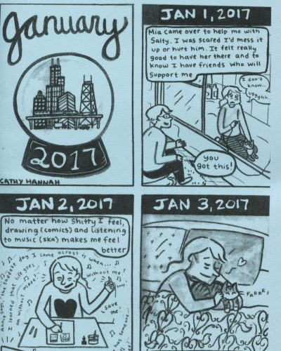 Everyday 2017 January by Cathy Hannah
