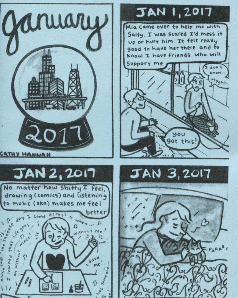 Everyday 2017 January by Cathy Hannah