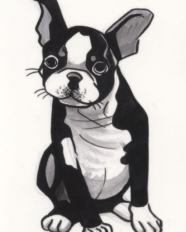 Dog Postcard by Cathy Hannah