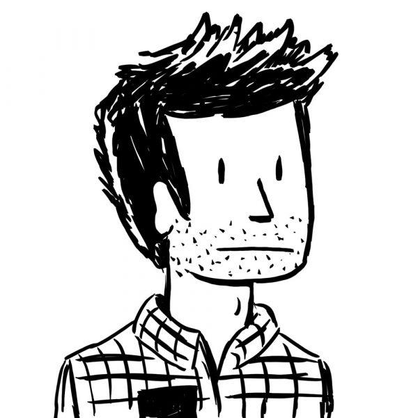 self portrait of Sam Grinberg