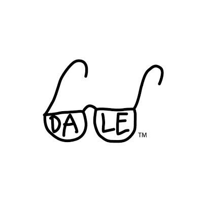 glasses with the word dale in them
