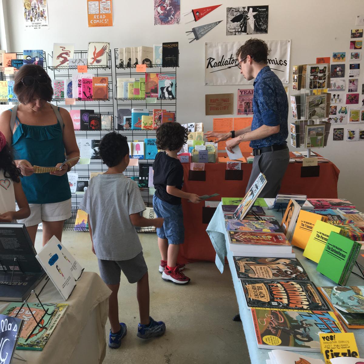 Radiator Comics pop-up shop at Ebb and Flow